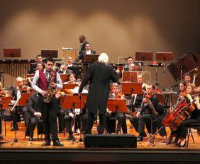 Elvis Sousa na estreia do Concerto para Saxofone Alto de Anne Victorino d'Almeida
