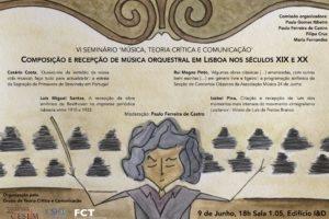 Cartaz da primeira sessão do VI seminário MTCC