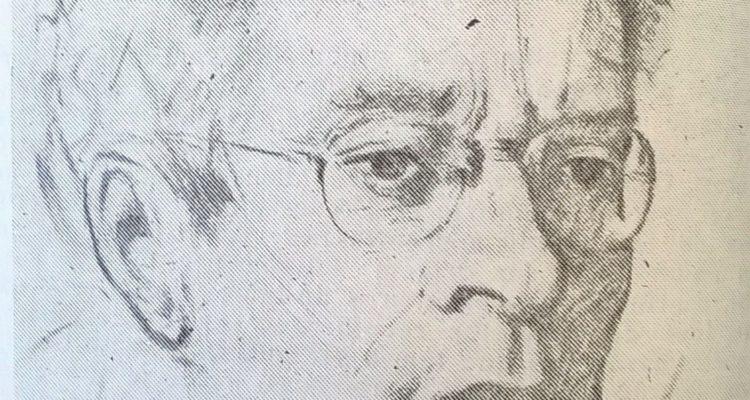 Ilustração de Fernando Lopes-Graça, da autoria de Abel Manta, datada de 1956